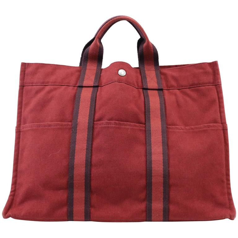 "Hermes Canvas Toto Bag GM 16,5x12,5"" 1"