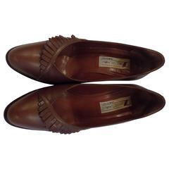 Diego Della Valle Brown leather Decollete