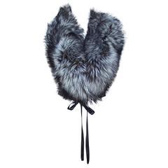 Lush 1990's Silver Tip Fox Fur Wrap Collar