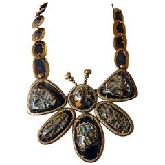 Tom Ford Lisa Eisner Big Butterfly Druzy Necklace  Collectible