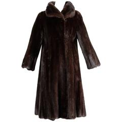 Stunning Numbered Black Willow by Neiman Marcus Vintage Ranch Mink Fur Coat