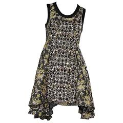 Vera Wang Embellished Floral Dress