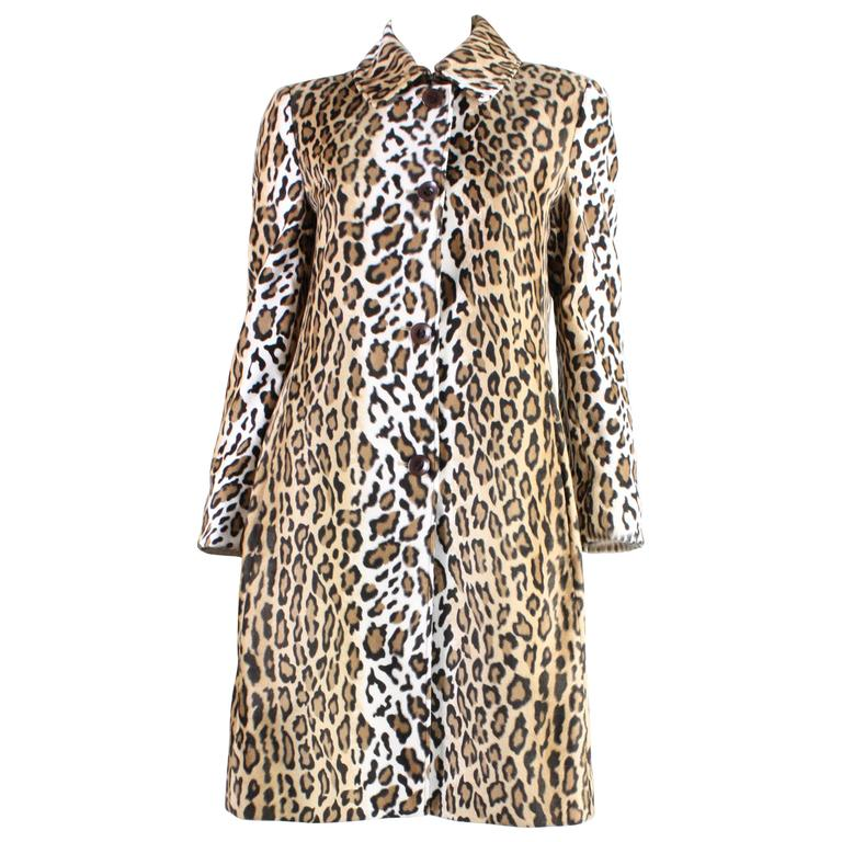1990's Moschino Faux Leopard Coat 1