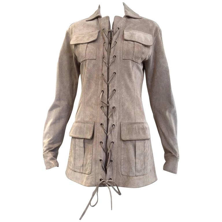 Yves Saint Laurent by Tom Ford suede safari jacket For Sale