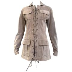 Yves Saint Laurent by Tom Ford suede safari jacket