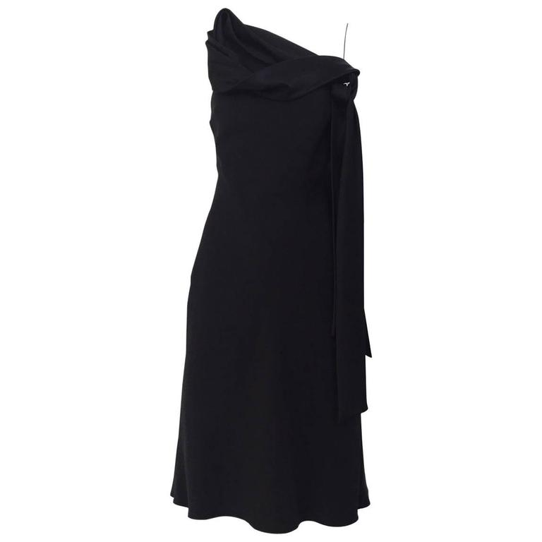 90s John Galliano black knot satin slip dress
