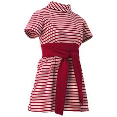 60s Red & White Stripe Mini Dress