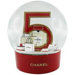 Chanel Huge N°5 Perfume Bottle Rechageable Snow Dome