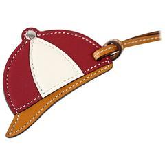 Hermes Bag Charm Paddock Bombe Equestrian Helmet Tri-Color Large