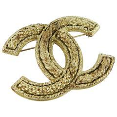Chanel Jumbo Logo Brooch