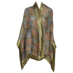 Liberty of London 1920s Vintage Lame Shawl