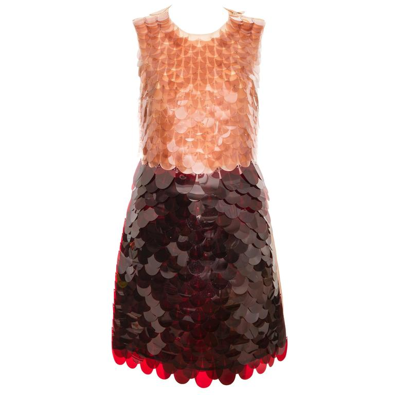Prada Sleeveless Dress With Large Paillettes And Scoop Back, Fall 2011