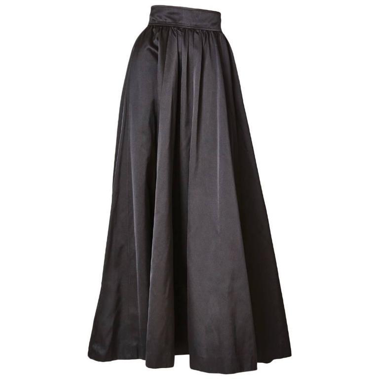 Yves Saint Laurent Satin Evening Skirt 1