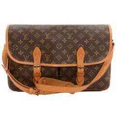 Vintage Louis Vuitton Sac Gibeciere Monogram Canvas Messenger Shoulder Bag