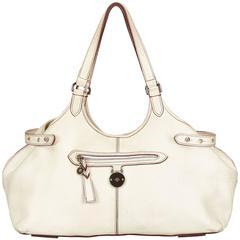 Mulberry White Leather Tote Bag