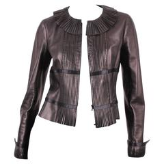 Chanel Leather Jacket - black