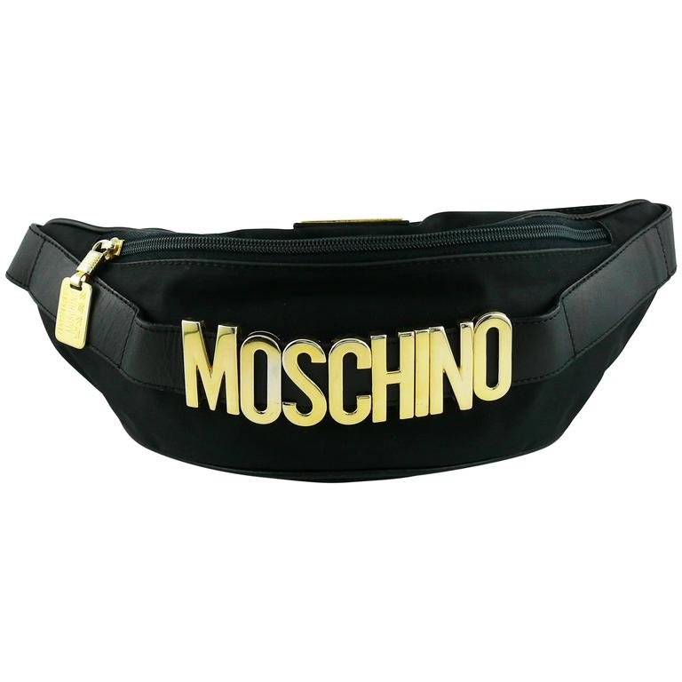 Moschino by Redwall Vintage 1990s Black Fanny Pack 1