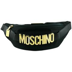 Moschino by Redwall Vintage 1990s Black Fanny Pack