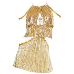 Gold Metal-Mesh and Chain Showgirl Dream Dress