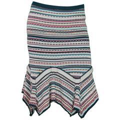 Missoni Multi-Color Knit Flare Skirt Sz 42