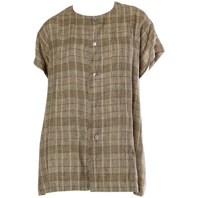 Mens Issey Miyake Linen Shirt For Sale