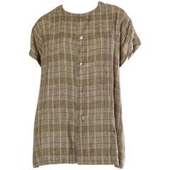 Mens Issey Miyake Linen Shirt