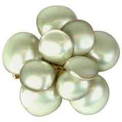 Classic Chanel Pearl Camellia Brooch, Maison Gripoix