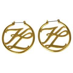 Karl Lagerfeld Logo Hoops