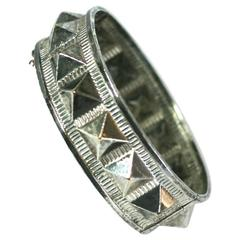 French Victorian Studded Bangle Bracelet