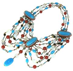 Louis Rousselet Dramatic Draped Bib Necklace