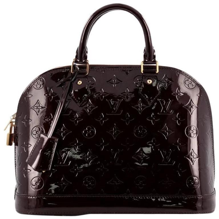 Louis Vuitton Alma Handbag Monogram Vernis PM 1