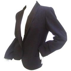 Saint Laurent Rive Gauch Iconic Wool Tuxedo Jacket c 1970s