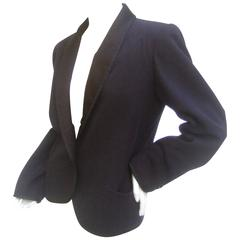 Saint Laurent Rive Gauch Iconic Wool Tuxedo Jacket c 1970s