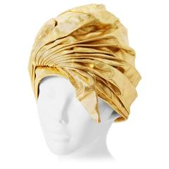 Christian Dior Gold Lame Turban