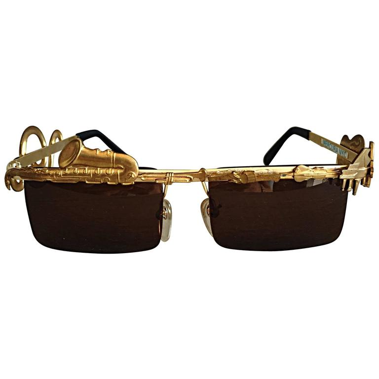 Rare Vintage Mercura Novelty ' Pianos + Horns + Music Notes ' Unisex Sunglasses For Sale