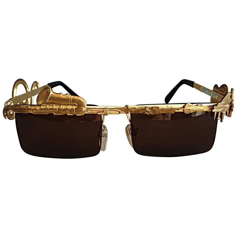 Rare Vintage Mercura Novelty ' Pianos + Horns + Music Notes ' Unisex Sunglasses For Sale