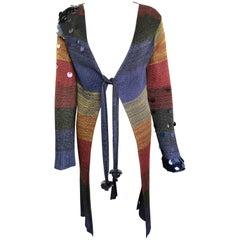 Christian Lacroix Colour Blocked Striped Long Cardigan