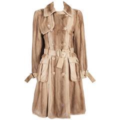Christian Dior by John Galliano mink fur and lambskin trench coat, circa 2005