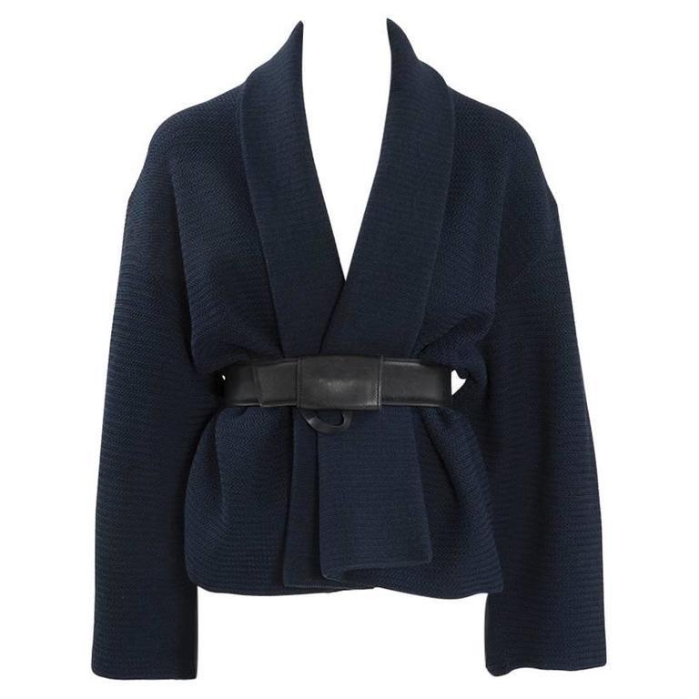 Rare Alaia Wool Knit Belted Kimono Jacket 1