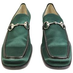 Gucci by Tom Ford Classic Green Satin Loafer