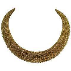 Ciner Gold Tone  Choker Necklace New Old Stock 1980s