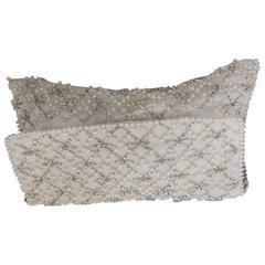 1980s White Beads Clutch