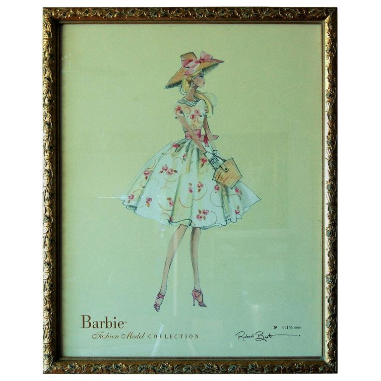 Limited Edition Barbie Fashion Model Print Garden Party