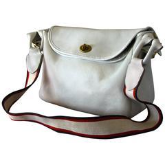 Bonnie Cashin Coach Suspender Bag White Leather Pre Creed Turnlock Rare 1960s