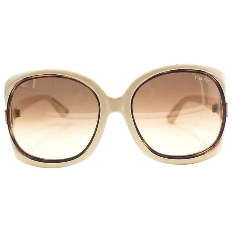 Tom Ford Oversized Sunglasses Cream 1