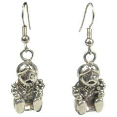 Carol Felley Sterling Silver Story Teller Dangle Earrings 1990s