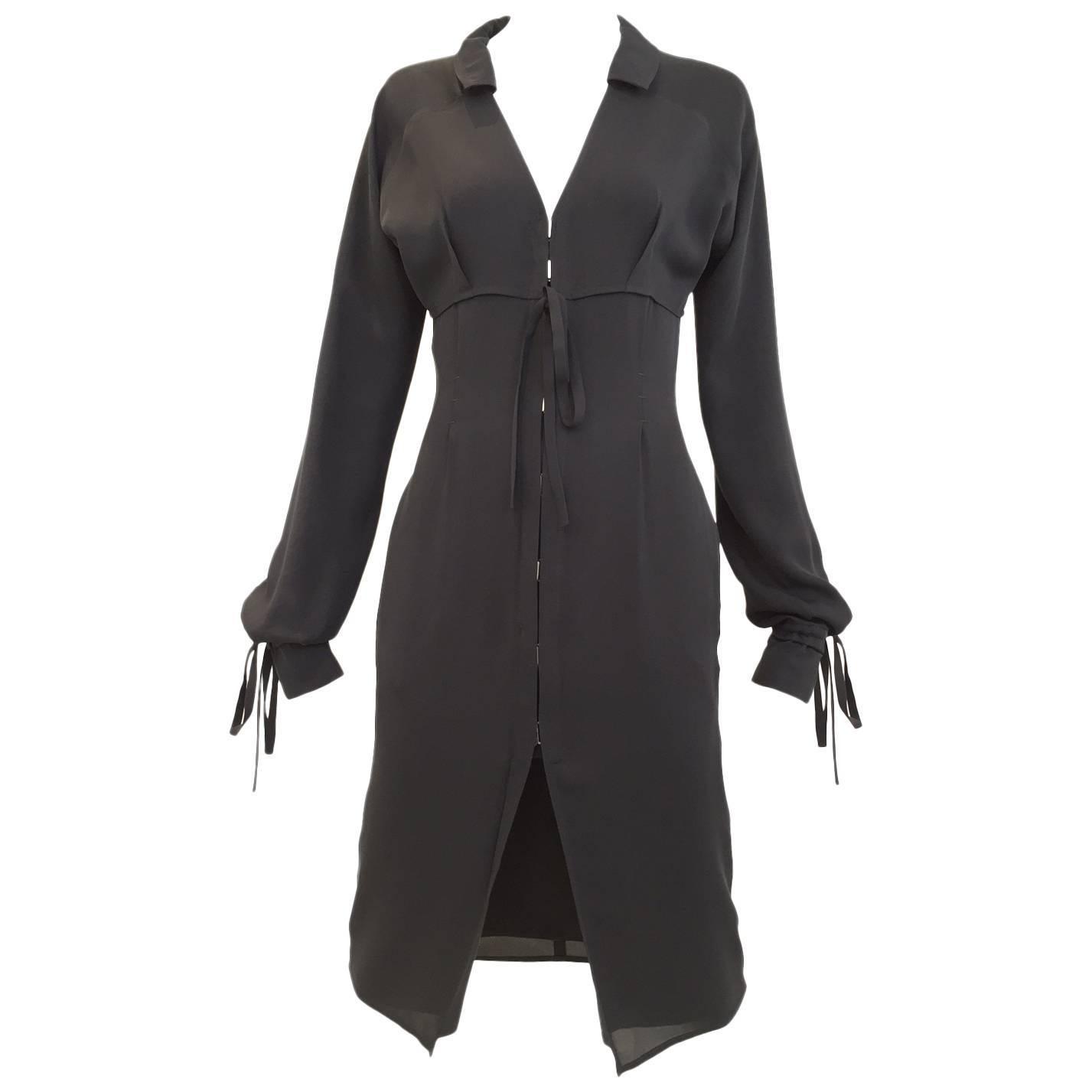 Yves Saint Laurent by Tom Ford black silk cocktail dress