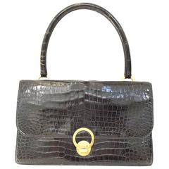 Vintage  Hermes crocodile purse