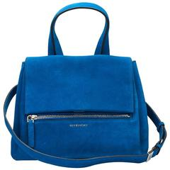 Givenchy Blue Azure Suede Pandora Pure, 2010s
