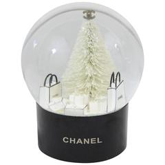 Chanel Christmas Snowball Representing Shopping Bags